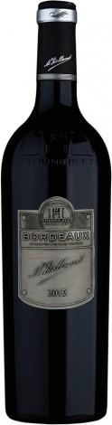 יין בורדו אדום יבש רולנד תווית מטאלית ובקבוק יוקרתי מעוצב