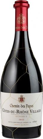 יין אדום יבש קוט דו רון וילאז' שמין דה פאפס אריזת עץ