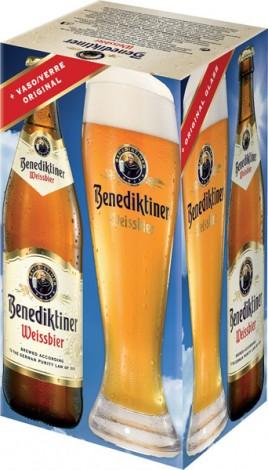 בירה בנדקטינר מארז בקבוקים עם כוס