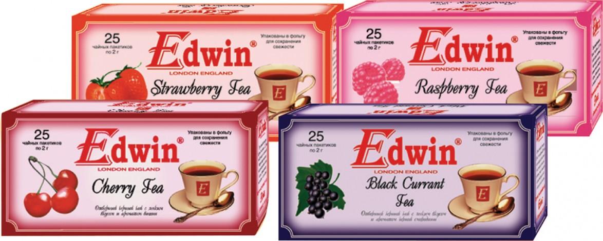תה אדווין דמדמנית שחורה, דובדבן, פטל, תות שדה